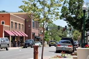 the downtown of Avada Colorado
